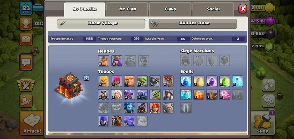 Used Class Of clans Google Account For sale in Dubai, UAE