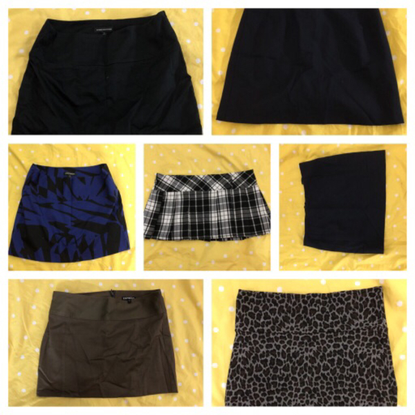 Used 10 pieces branded short skirts in Dubai, UAE