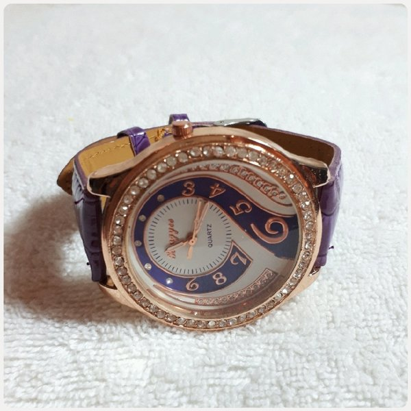 Used N,S fabulous Rosegold Purple watch. in Dubai, UAE
