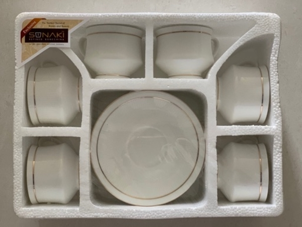 Used Brand New 6 Cups & Saucer Set For Sale in Dubai, UAE