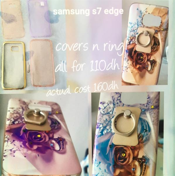 Used SAMSUNF S7 Edge 5 Covers With Ring.  in Dubai, UAE