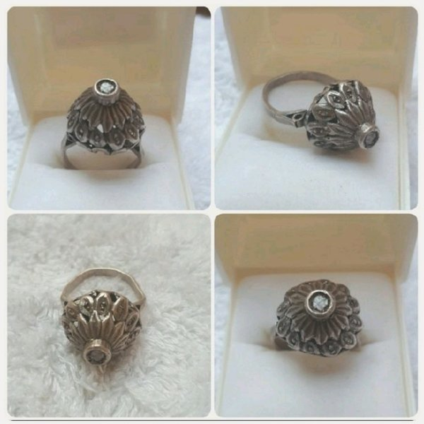 Used Antique old Silver Ring with old Diamond in Dubai, UAE