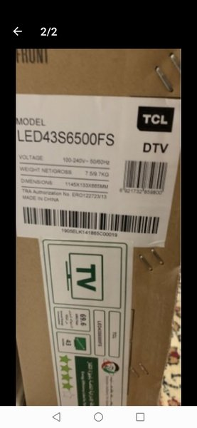 Used TCL android TV sealed new model  TV in Dubai, UAE