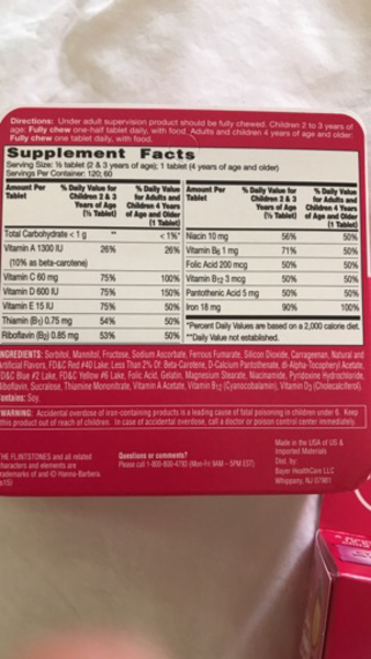 Chewable Tablets Unopened Expiry 2019