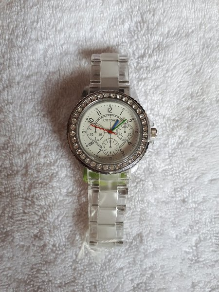 Used Citysan watch white color in Dubai, UAE
