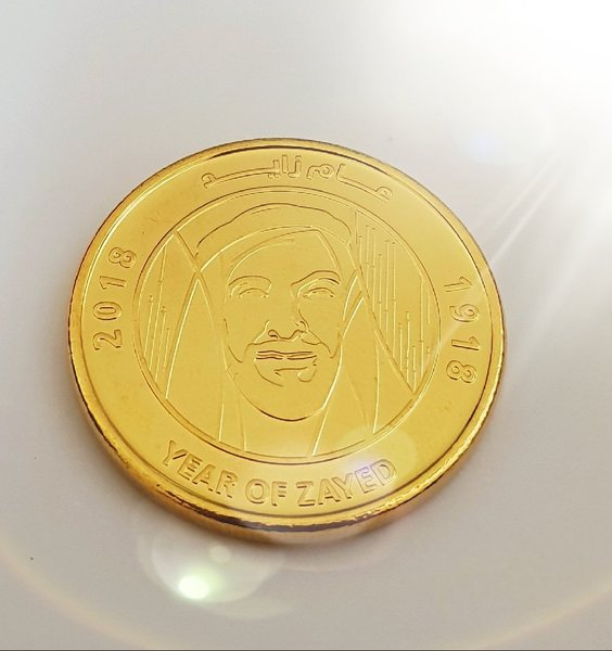 Used 1 AED COIN (24k gold plated) in Dubai, UAE