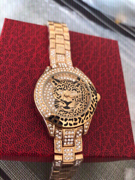 Used Bee sister tiger inspired gold watch in Dubai, UAE