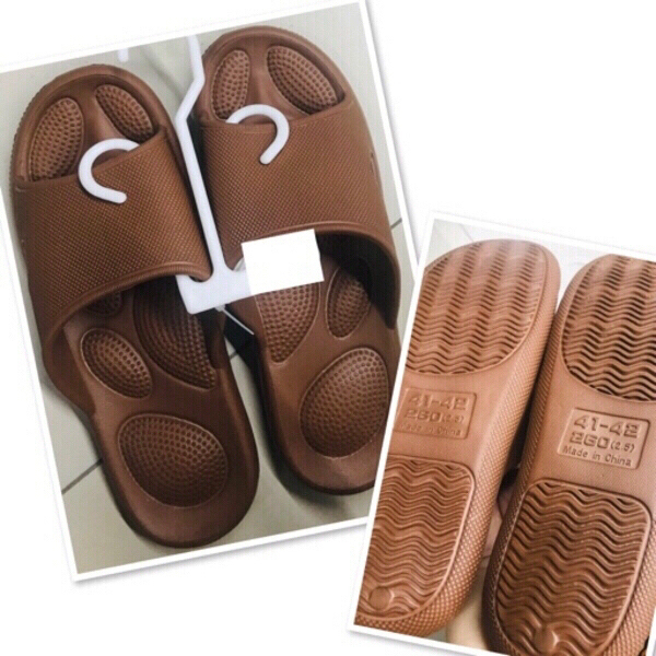 Used Brown rubber Sleepers size 41/42 ♥️ in Dubai, UAE