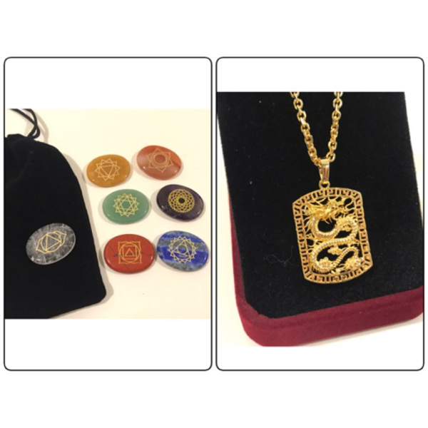 Used NEW Dragon Necklace & 7 Chakra Energy in Dubai, UAE