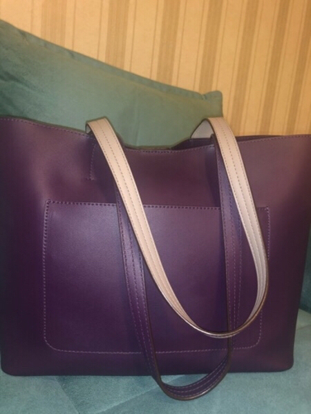 Used DKNY Bedford Lg Tote Bag Brinjal in Dubai, UAE