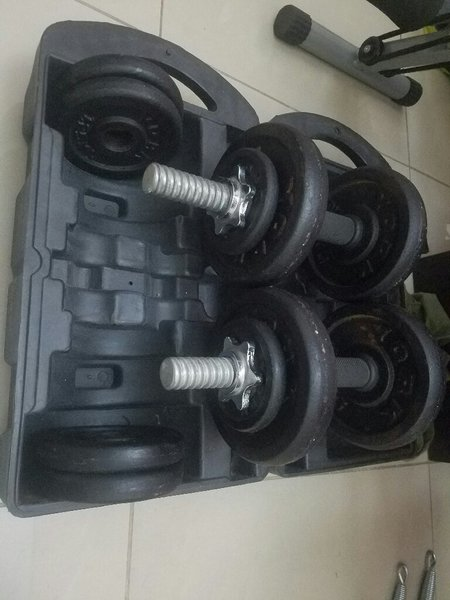 Used Six pack care and dumb bell in Dubai, UAE