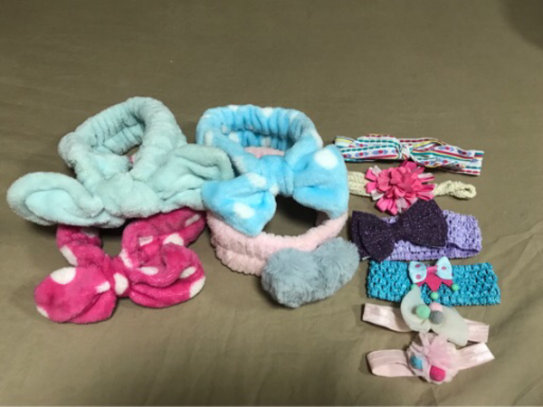 Used Preloved head bands for baby 10pcs(50dhs in Dubai, UAE