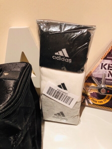 Used Adidas socks 43-46& key Ninja & spray bo in Dubai, UAE