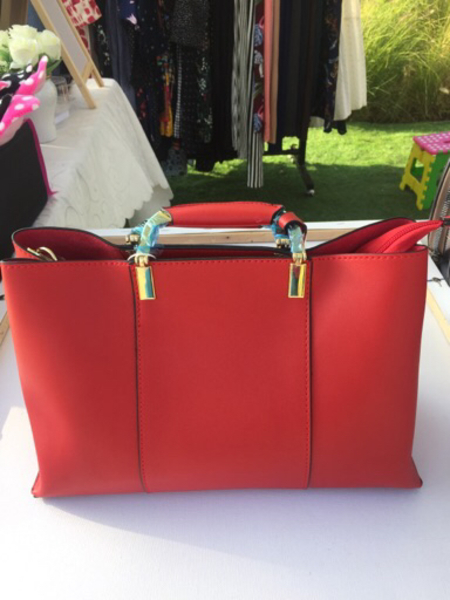 Used Red Satchel Medium Bag in Dubai, UAE