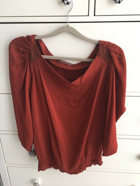 Used Silk French blouse- Comptoiredes Cotonni in Dubai, UAE