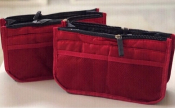 Used 2 Red Bag Organizers / Pouches in Dubai, UAE