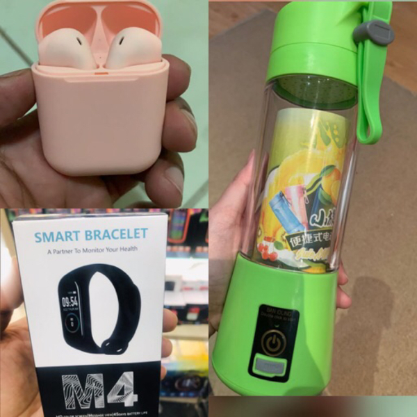 Used Portable blender with m4 band and inpods in Dubai, UAE