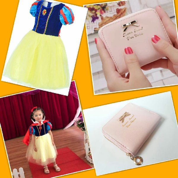 Used Snow white costume+ pink coin wallet in Dubai, UAE