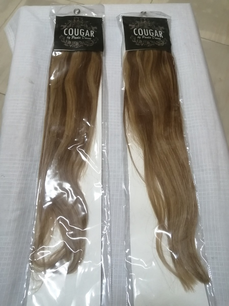 Used 2pc Cougar Clip In Remy Hair Colour#6/27 in Dubai, UAE