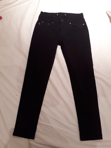 Used Black long pants skinny jeans size 26 in Dubai, UAE