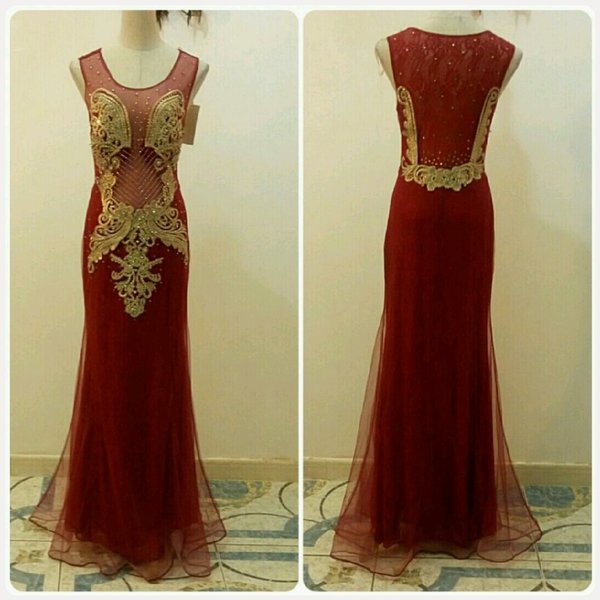 Used Red long dress in Dubai, UAE