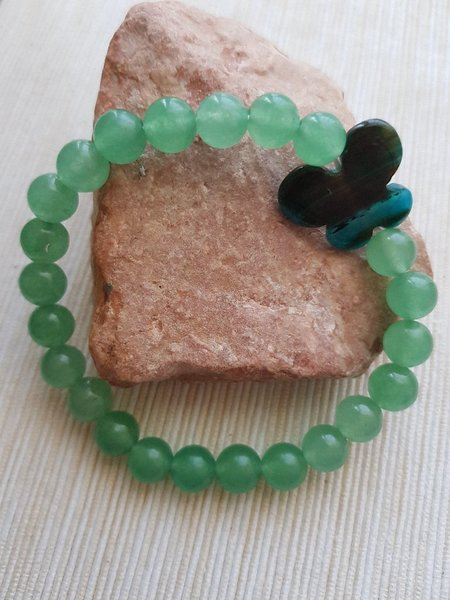 Used Jade with butterfly carved stonebracelet in Dubai, UAE