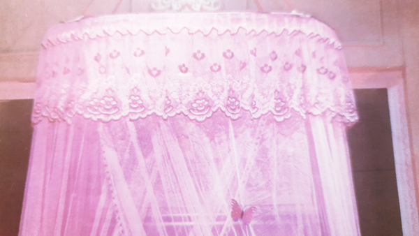 Used Round Lace Curtain Dome Bed in Dubai, UAE