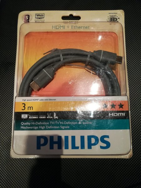 Used Philips HDMI+ETHERNET 3 Meter Cable in Dubai, UAE