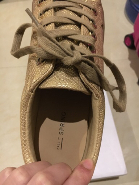 Used Call It Spring Matte Gold Sneakers in Dubai, UAE