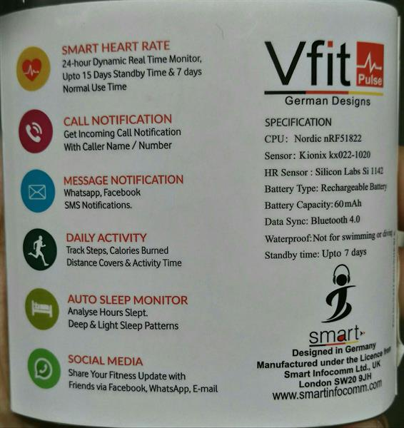 Used Vfit Plus Smart Band..Smart Heart Rate.call,Facebook,Watsapp Sms Notification.Daily Activity. in Dubai, UAE