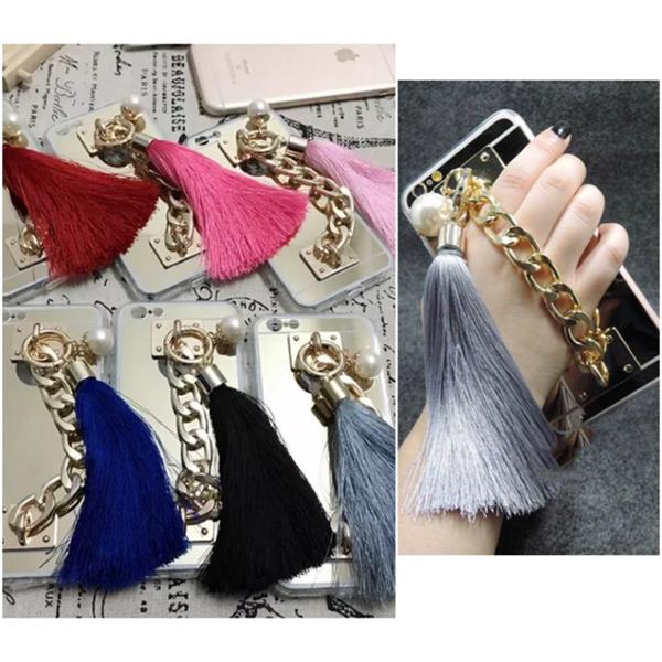 Used Tassels With Chain Iphone5/5s/6/6s Samsung Note 5 Case In Blue Or Black Tassels.. Unique Gift Idea.. Grab Before It's Sold Out.. Sale For Half Price Now in Dubai, UAE
