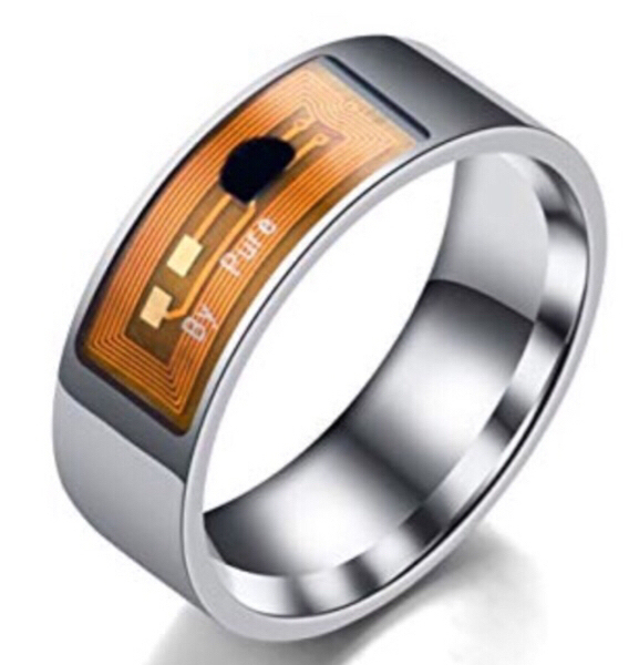 Used NFC Smart Silver Ring/ size 6 in Dubai, UAE