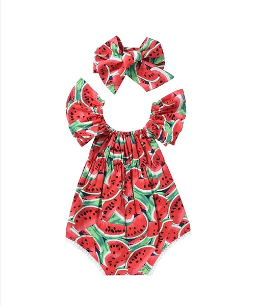 Used Newborn Baby Girls Watermelons bodysuit in Dubai, UAE