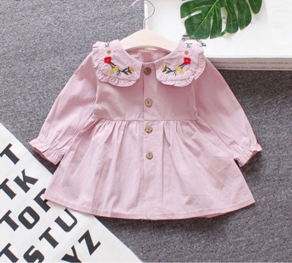 Used Baby Floral Embroidery Ruffled Dress in Dubai, UAE