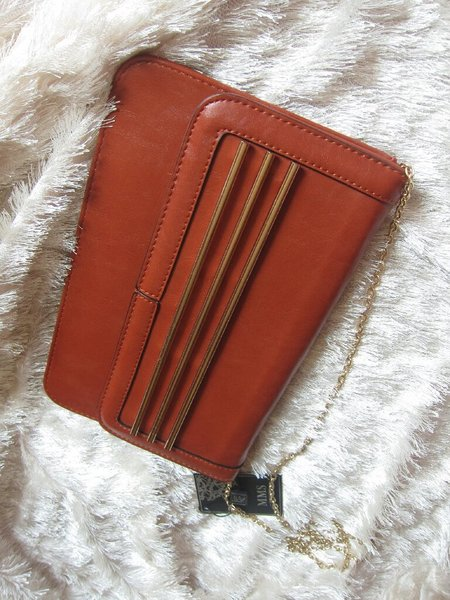 Used Brand new leather clutch. Very stylish in Dubai, UAE