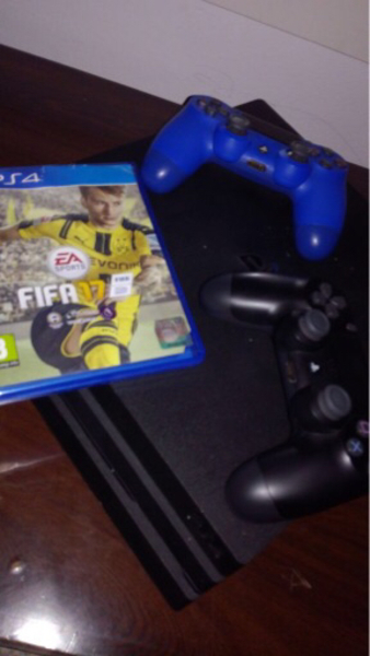 Used PS4 pro with fifa with controllers in Dubai, UAE