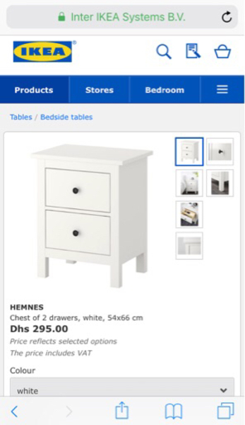 Used Bed with 2 side chest drawers in Dubai, UAE
