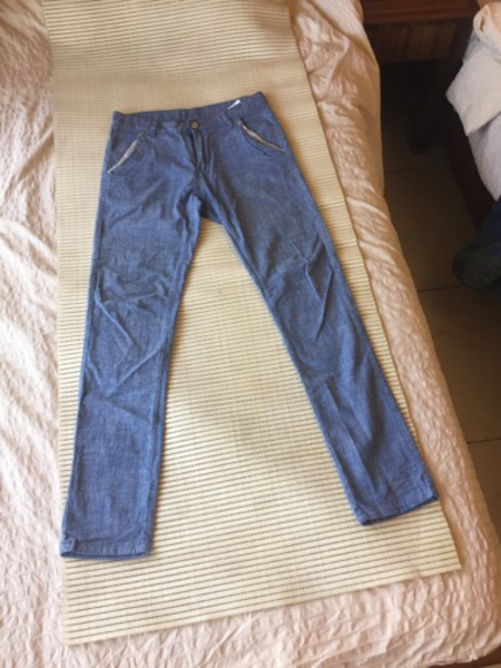 "Used Linen pants waist 30"" new slim fit in Dubai, UAE"