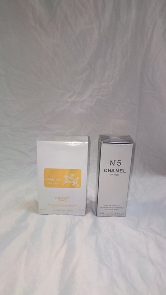 Used Creed Aventus for her&Chanel N5 set in Dubai, UAE