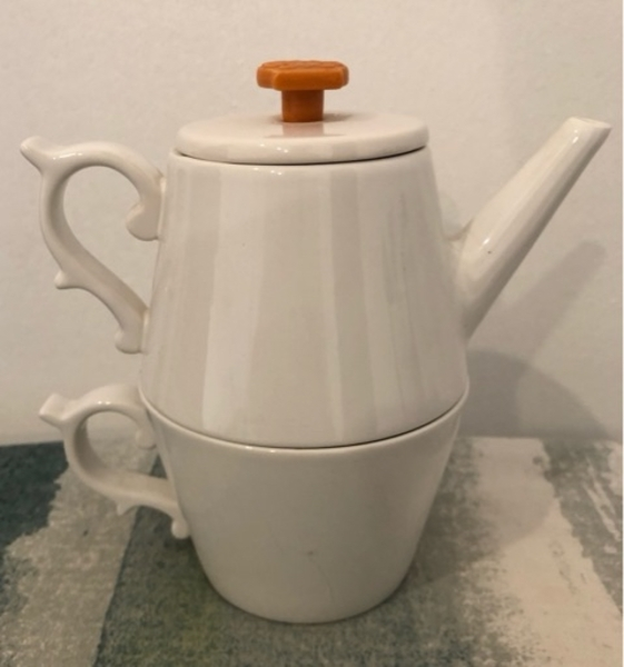 Used Tazo Teapot with Cup from Starbucks in Dubai, UAE