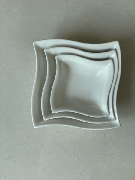 Used New 3 Pcs Square Bowls for Sale in Dubai, UAE