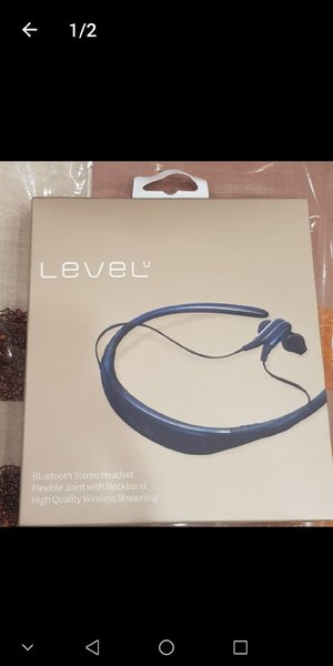 "Used Level ""U"" Bluetooth In-Ear Headset Blue in Dubai, UAE"