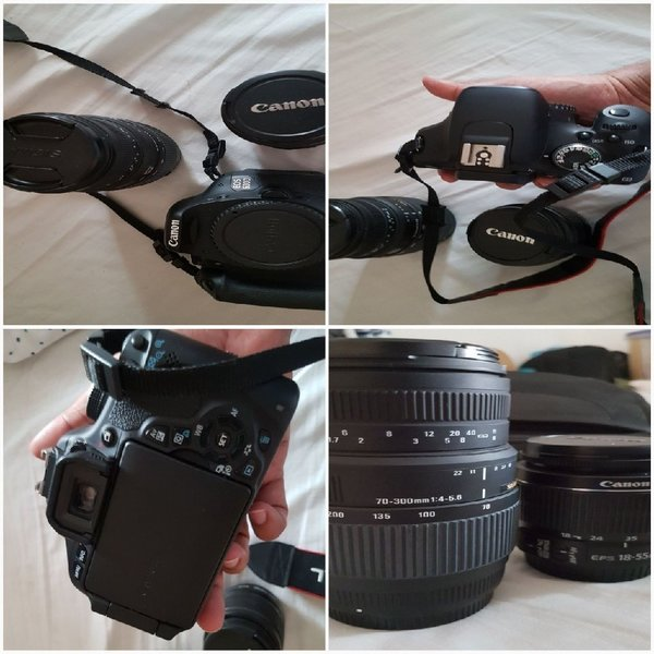 Used CANON 600D WITH 75-300MM,back pack in Dubai, UAE