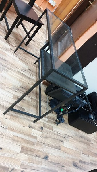 Used 2 tables with glass top in Dubai, UAE