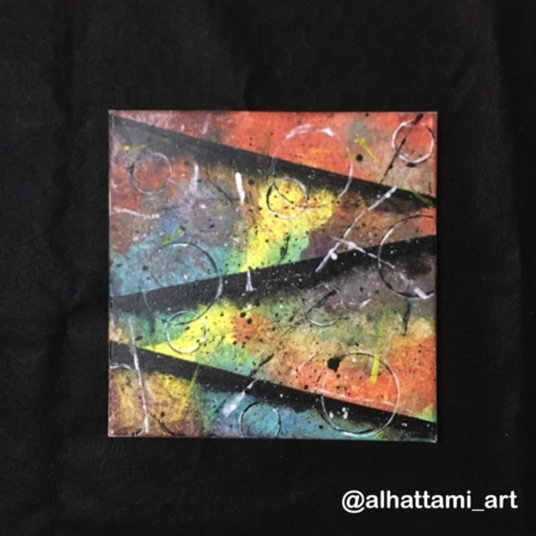 Used Canvas art painting | لوحة فنية تجريدية in Dubai, UAE