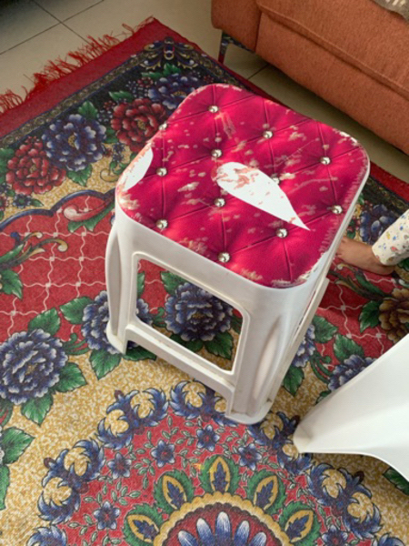 Used Two chairs and one small table free in Dubai, UAE