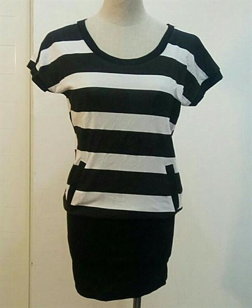 Used Top Or Short Dress Stripes Black And Whi in Dubai, UAE