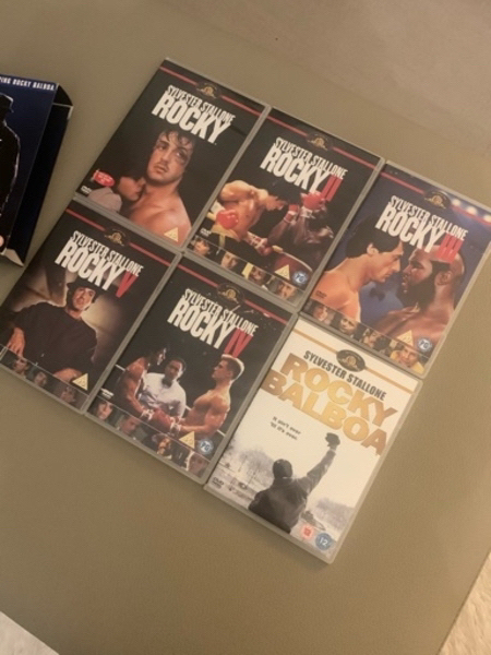 Used Rocky DVDs The full collection 6DVDS in Dubai, UAE