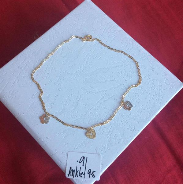 Used Anklet 18 carat gold with .95 grams in Dubai, UAE