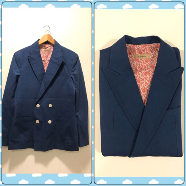 Used New 2Pcs HAVANA Blazer Size 50 Navy Blue in Dubai, UAE